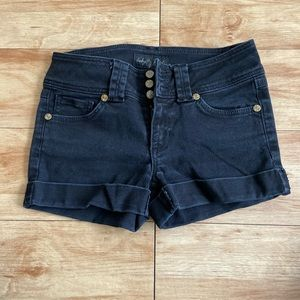 Baby phat black jean shorts